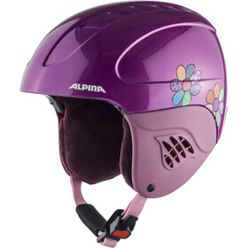 Alpina Carat Casco de esquí Niños, happy flowers